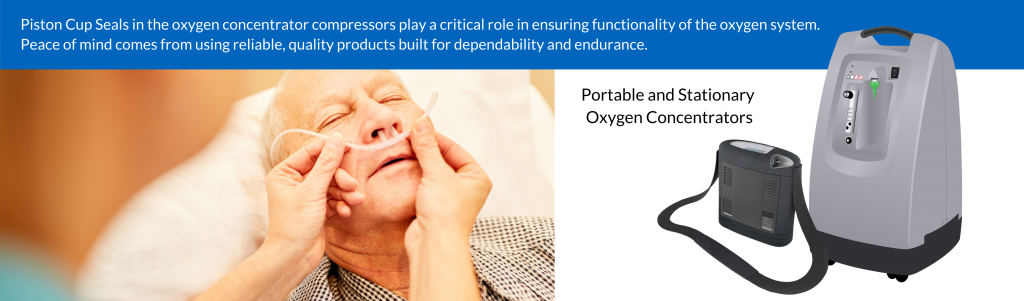 Piston Cups for Oxygen Concentrators