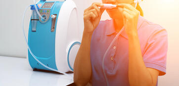 Medical Device Individual Blue White portable oxygen concentrator